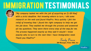 Read Immigration Testimonials From Valued Clients Of VisaPro Law Firm.