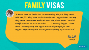 Read US Family Visa Testimonials From Visa Pro Clients.
