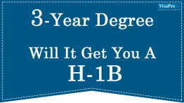 How To File H1B Visa For Candidates With 3-Year Foreign Degree.
