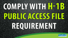 H1B Public Access File Requirements.