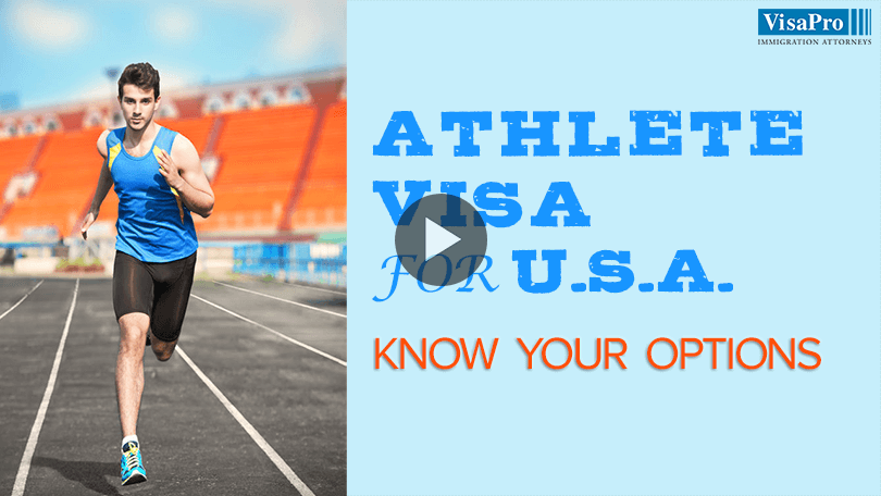 Professional Athlete Visa For USA.