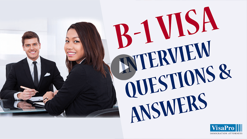 B1 Business Visa Interview Questions And Answers For USA.