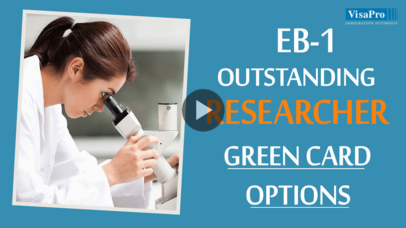 EB1 Outstanding Researcher Green Card Option.