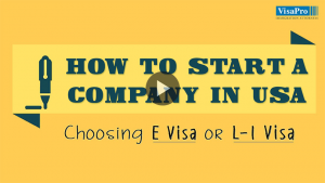 Opening A Company In USA Using E Visa or L1 Visa.