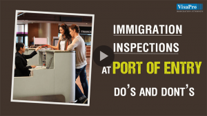 Immigration Inspection Process At US Port Of Entry.