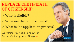 How To Replace Certificate Of Citizenship?
