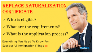 How To Replace Naturalization Certificate To USA?