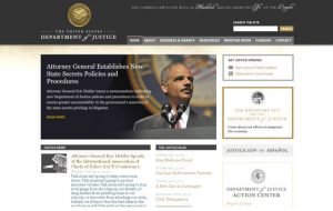 The Department of Justice (DOJ) Unveiled Its Revamped Website.