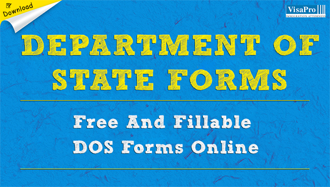 Department Of State Forms Dos Form Free Download