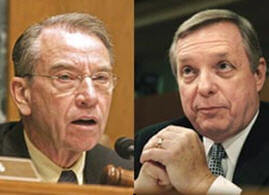 Assistant Senate Majority Leader Dick Durbin (D-IL) and Senator Chuck Grassley (R-IA).