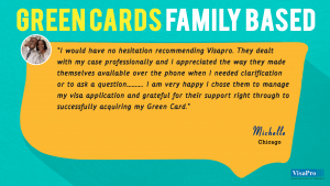 Family Based Green Card Testimonials From Satisfied Clients of VisaPro.