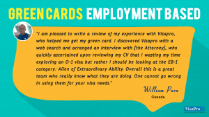 US Immigration Testimonials About Employment Based Green Card.