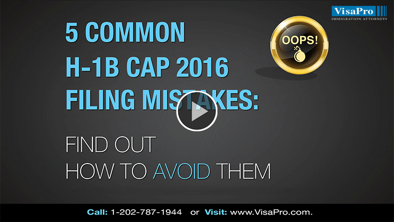 All About USCIS H1B Cap 2016 Filing Mistakes.