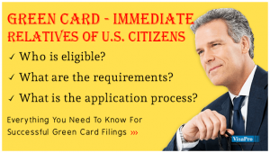 How To Get A Green Card For An Immediate Relative of A US Citizen.