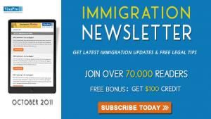 Get October 2011 US Immigration Updates.