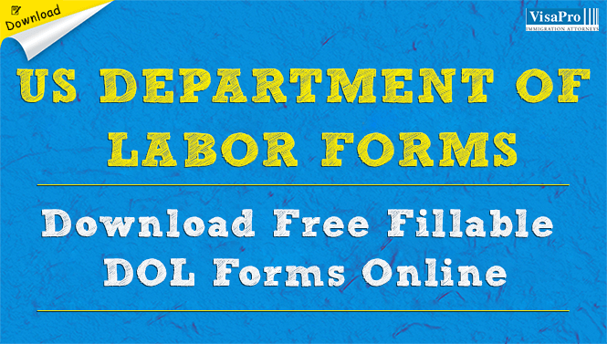 US Department of Labor Forms - DOL Forms Free Download