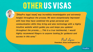 Immigration Legal Services Testimonials On Various US Visas.