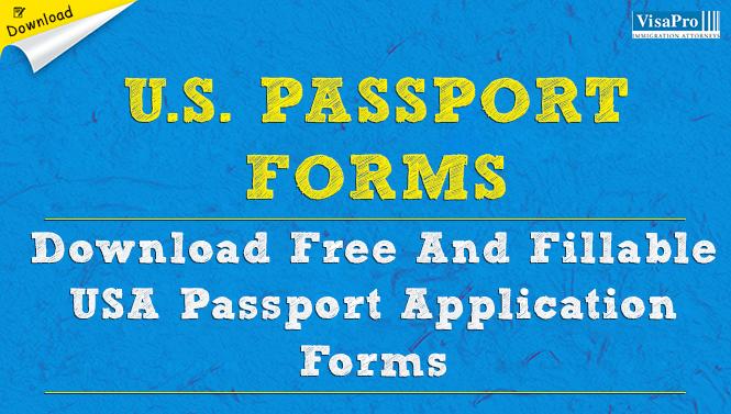 Us Passport Forms Usa Passport Application
