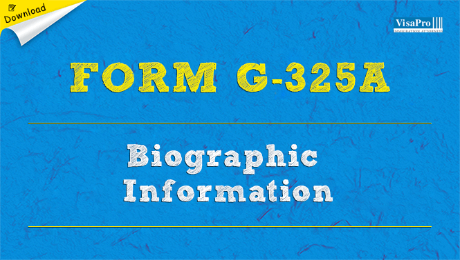 Uscis Form G 325a Biographic Information Free Download