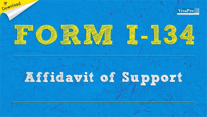 Form I 134 Affidavit Of Support Instructions Free Download