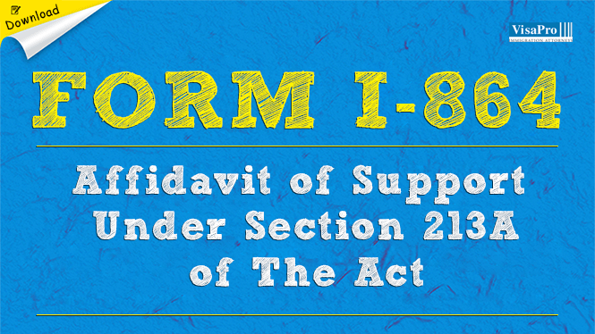 Form I 864 Affidavit Of Support Under Section 231a Of The Act Free