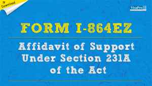 Download I864EZ Immigration Affidavit Of Support Under Section 213A Of The Act Instructions.