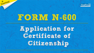 Download Free Immigration Form N-600 Application For Certificate Of Citizenship Instructions.