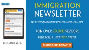 Get December 2010 US Immigration Updates.
