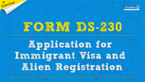 Download Form DS-230 Application For Immigrant Visa And Alien Registration.