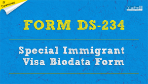 Download Free Form DS-234 Special Immigrant Visa Biodata Form.