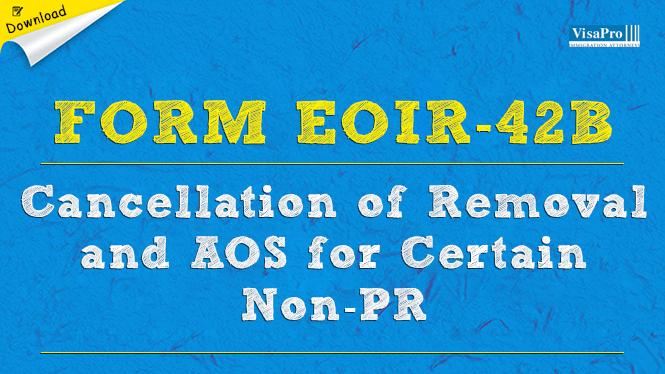 Form Eoir 42b Visapro