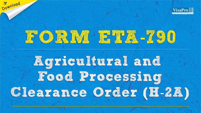 Form ETA-790 Agricultural Clearance And Food Processing System ...