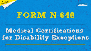 Download Free USCIS Form N-648 Medical Certification For Disability Exceptions.