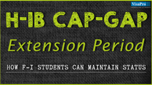 How F-1 Visa Students Can Maintain Status During H1B Cap Gap Period.