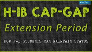 How F-1 Visa Students Can Maintain Status During H1B Cap Gap Period.