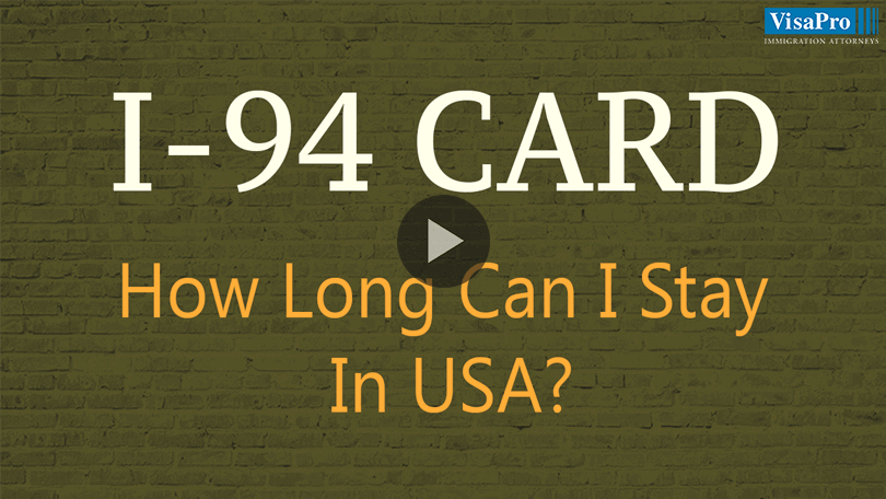 What Is An I-94 Card And How Long Can I Stay In US?