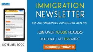 Get November 2009 US Immigration Updates.