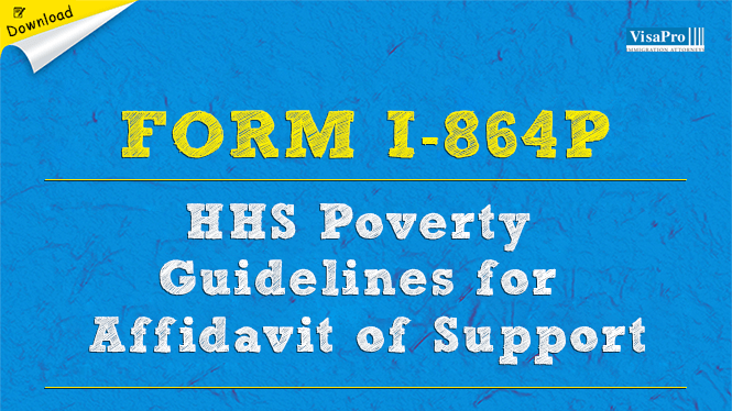 Uscis Form I 864p Federal Poverty Guidelines To Complete Affidavit