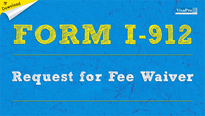 Uscis Form I 912 Request For Fee Waiver Download