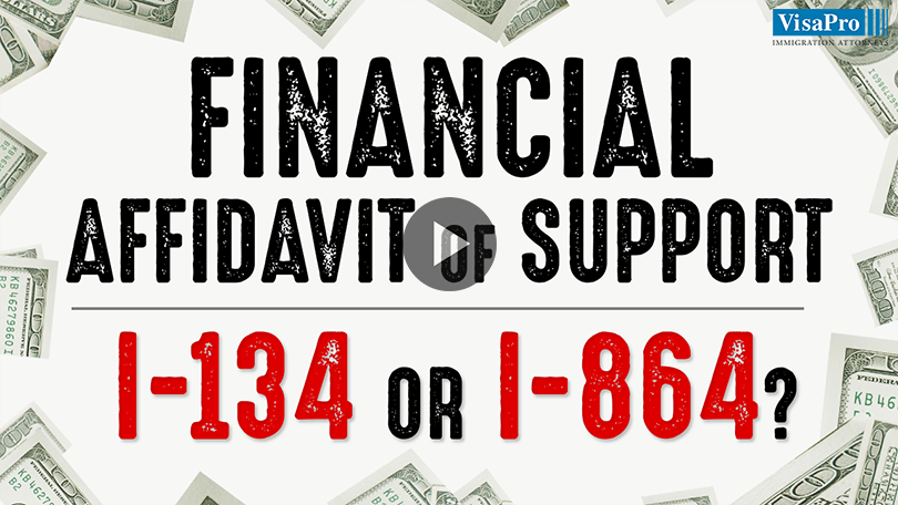 Financial Affidavit Of Support I-134 or I-864.