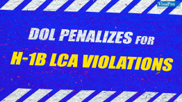 DOL Penalties For H1B LCA Violations.