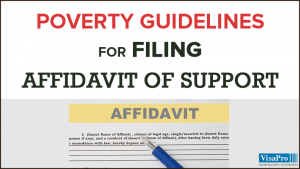 Significance Of Affidavit Of Support Poverty Guidelines For Immigration Filings.