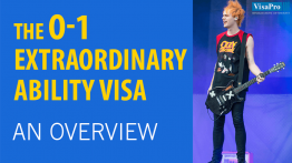 O1 Visa Requirements For Extrordinary Ability.