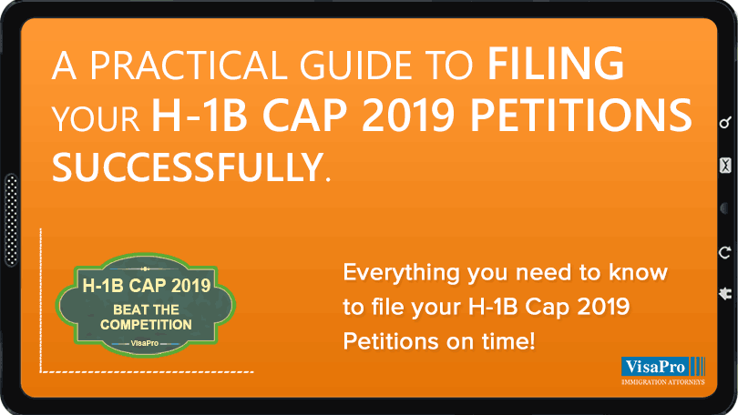 Ebook: Filing H1B Cap 2019 Petition
