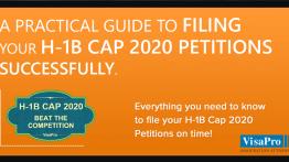 Ebook: Filing H1B Cap 2020 Petition