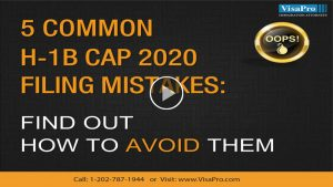 All About USCIS H1B Cap 2020 Filing Mistakes.
