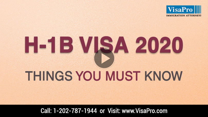 Learn All About USCIS H1B Cap 2020 Filing Strategy.