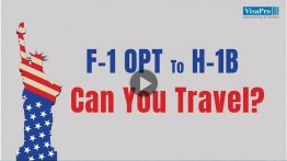 F1 Visa OPT or CPT - Can You Travel While H1B Petition Is Pending?