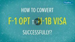 How To Convert F1 Visa To H1B Visa Successfully